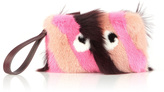 Anya Hindmarch Mink Furry Eyes Clutch