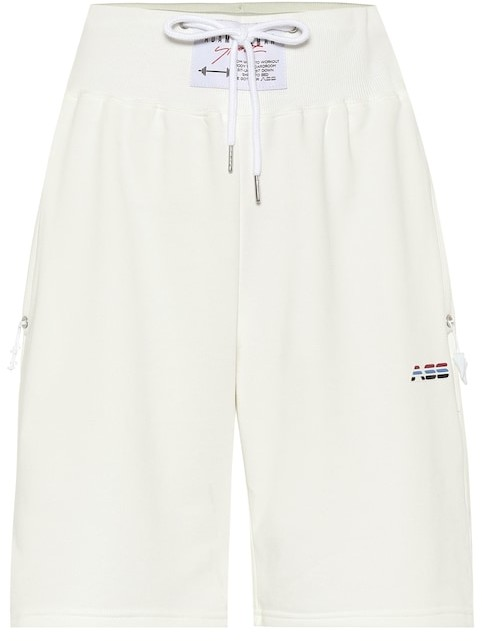 Adam Selman Sport High-rise cotton-blend shorts
