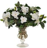 """Winward Silks 17"""" Gardenia in Glass Vase in"""