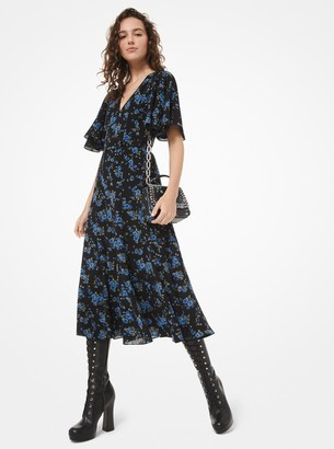 Michael Kors Floral Silk-Georgette Dress