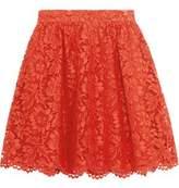 Valentino Cotton-Blend Guipure Lace Mini Skirt