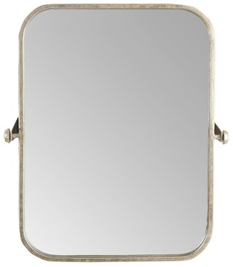 Overstock Metal Framed Pivoting Wall Mirror - Silver