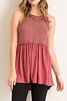 Entro Knit Halter Tank Top