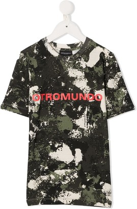 Marcelo Burlon County Of Milan Kids camouflage-print cotton T-shirt