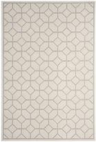 west elm Monochromatic Tiled All-Weather Rug - Light Gray/Cream