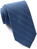 Calvin Klein Denim Metallic Stripe Tie