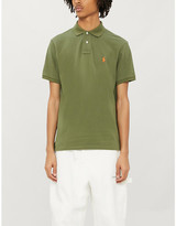 Polo Ralph Lauren Logo-embroidered custom slim-fit cotton-piqué polo shirt