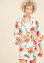 Betsey Johnson Botanical Bookworm Robe in Sky in S