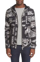 Just Cavalli Men's Camo Print Zip Hoodie