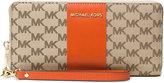 MICHAEL Michael Kors Signature Center Stripe Jet Set Travel Continental Wallet