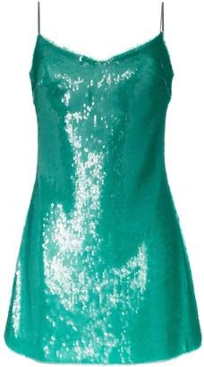 Natasha Zinko sequinned spaghetti strap mini dress