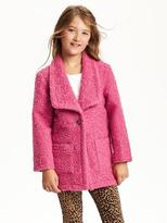 Old Navy Loose Bouclé Coat for Girls