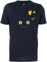 Fendi Bag Bugs embroidered T-shirt - men - Cotton/Polyester - 46