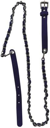 Chanel Purple Leather Belts