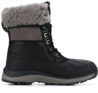 UGG Shearling-Trimmed Boots
