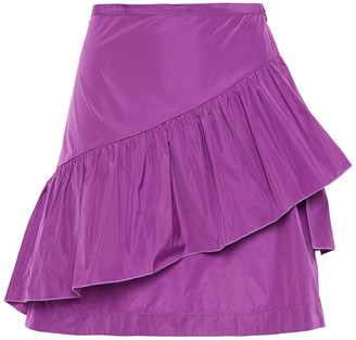 See by Chloe Ruffled Taffeta Mini Skirt