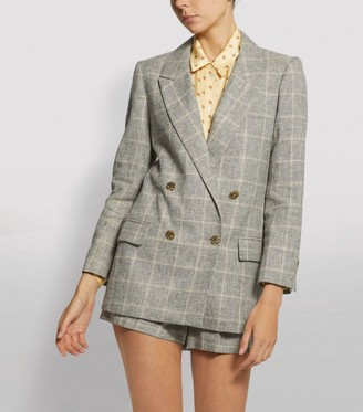 Sandro Paris Check Blazer