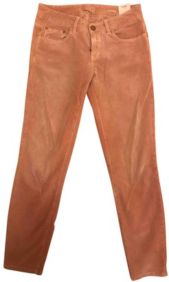 Closed Pink Cotton Trousers for Women