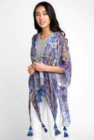 Elizabeth Gillett Riley Tapestry Kimono With Tassels