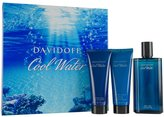 Davidoff Cool Water by for Men 3 Piece Set Includes: 4.2 oz Eau de Toilette Spray + 2.5 oz Shower Gel+ 2.5 oz After Shave Balm