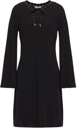 MICHAEL Michael Kors Lace-up Stretch-jersey Dress