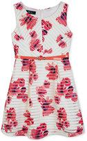 Amy Byer Belted Floral Mesh Dress, Big Girls (7-16)