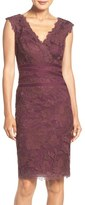 Tadashi Shoji 'Amy' Corded Embroidered Lace Sheath Dress (Regular & Petite)