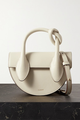 Yuzefi Dolores Mini Knotted Leather Tote - Off-white
