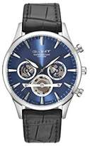 Gant Mens Quartz Watch, multi dial Display and Leather Strap GT005001