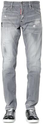 DSQUARED2 Grey Cotton Slim Jeans