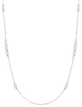 Ralph Lauren Ralph Oval Link Strand Necklace in Sterling Silver, 42