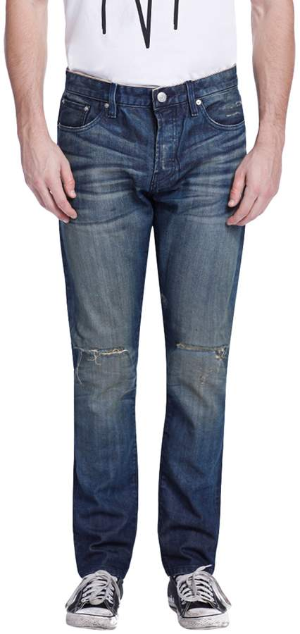 Earnest Sewn Men's Bryant Cotton Slouchy Slim Jeans