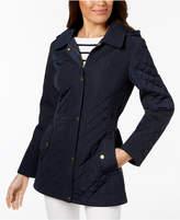 Jones New York Hooded Quilted Coat