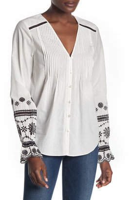 Veronica Beard Siona Embroidered Top (Regular & Plus Size)