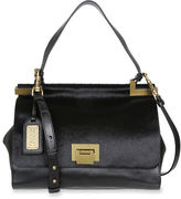 Badgley Mischka Chantel Leather and Calf Hair Crossbody Satchel