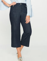 ELOQUII Plus Size Flap Pocket Cropped Pant