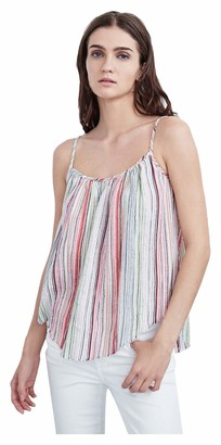 Velvet by Graham & Spencer Women's Lurex Stripe Camisole