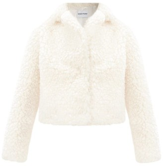Stand Studio Janet Cropped Faux-fur Jacket - White