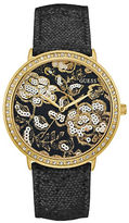 GUESS Wildflower Crystal Studded Watch