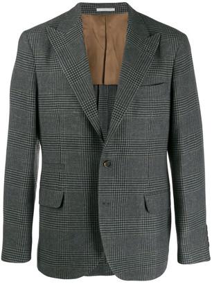 Brunello Cucinelli Checked Wool Blend Jacket