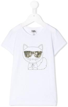Karl Lagerfeld Paris Choupette Outline T-Shirt