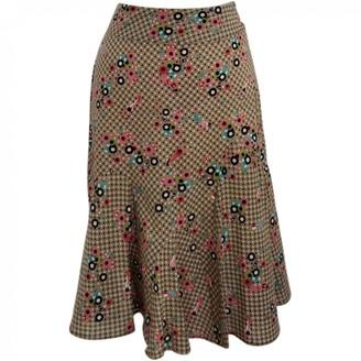 Erotokritos Khaki Cotton Skirt for Women