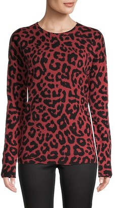 Saks Fifth Avenue Leopard Cashmere Sweater