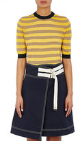 Marni Women's Striped Linen-Blend Sweater