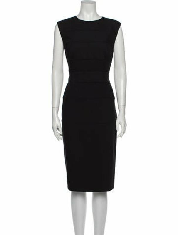 Narciso Rodriguez Virgin Wool Midi Length Dress w/ Tags Wool