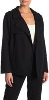 Daniel Rainn Dr2 By Drape Front Textured Knit Trench Jacket (Petite)