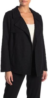 Dr2 By Daniel Rainn Drape Front Textured Knit Trench Jacket (Petite)