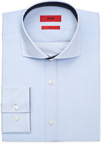 HUGO BOSS HUGO Men's Slim-Fit Light Blue Striped Dress Shirt