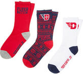 PINK University Of Dayton 3-Pack Crew Socks