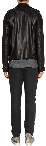 IRO Black Leather Biker Jacket